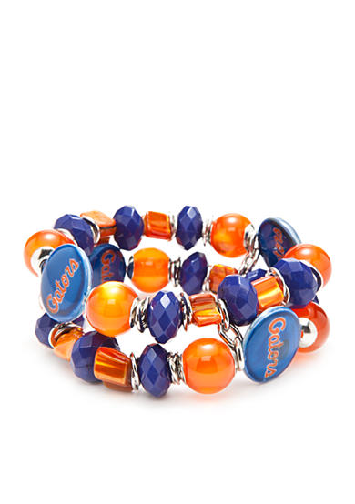 accessory PLAYS® Silver-Tone Florida Gators Two Row Beaded Bracelet