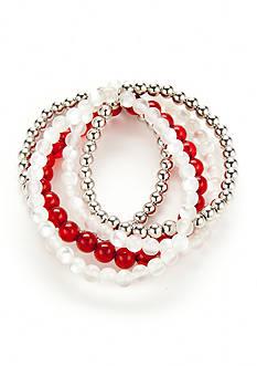 accessory PLAYS Silver-Tone Alabama Crimson Tide Bracelet