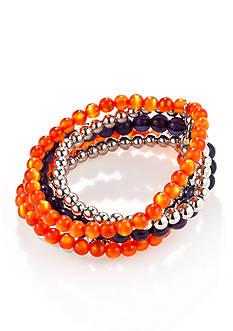 accessory PLAYS Silver-Tone Auburn Tigers Bracelet