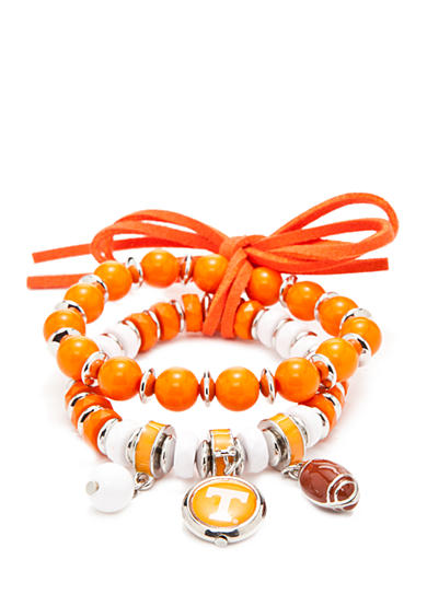 accessory PLAYS® Silver-Tone Tennessee Volunteers Charm Bracelet Set