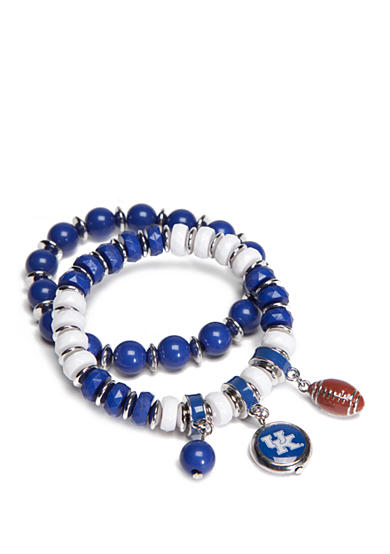 accessory PLAYS® Silver-Tone Kentucky Wildcats Charm Bracelet Set