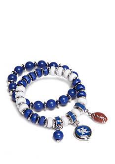 accessory PLAYS Silver-Tone Kentucky Wildcats Charm Bracelet Set