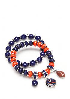accessory PLAYS Silver-Tone Virginia Cavaliers Charm Bracelet Set