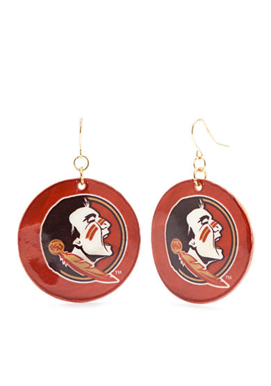 accessory PLAYS® Gold-Tone Florida State Seminoles Shell Drop Earrings