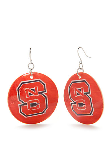 accessory PLAYS® Silver-Tone NC State Wolfpack Large Shell Drop Earrings