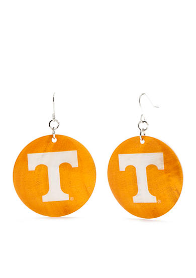 accessory PLAYS® Silver-Tone Tennessee Volunteers Large Shell Drop Earrings