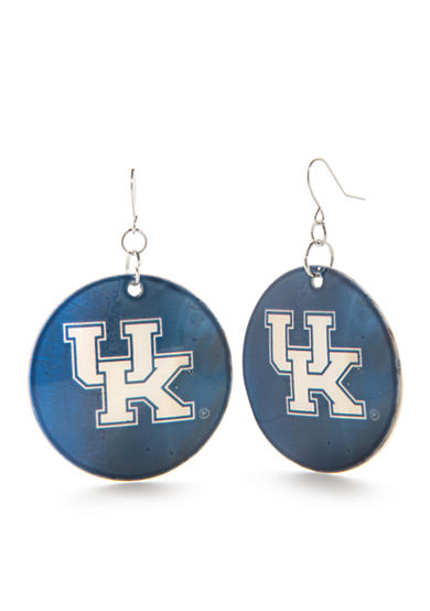 accessory PLAYS® Silver-Tone Kentucky Wildcats Disc Drop Earrings