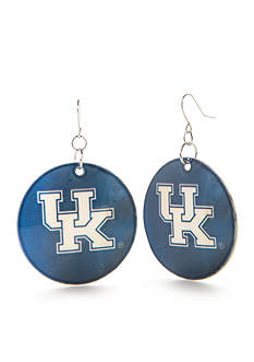 accessory PLAYS Silver-Tone Kentucky Wildcats Disc Drop Earrings