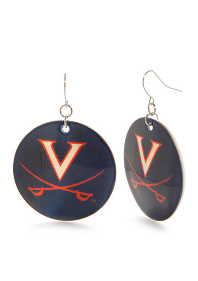 accessory PLAYS® Silver-Tone Virginia Cavaliers Disc Drop Earrings