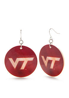 accessory PLAYS Silver-Tone Virginia Tech Hokies Disc Drop Earrings