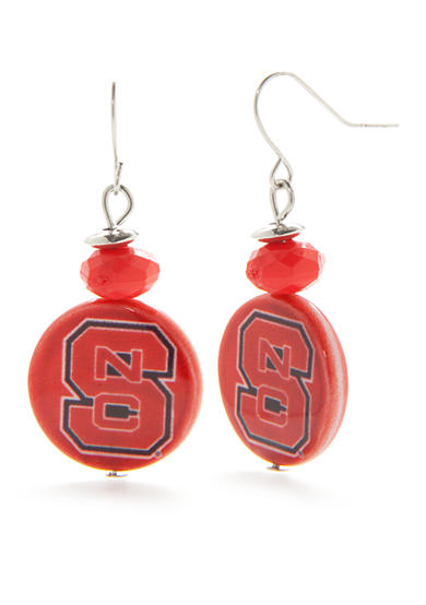 accessory PLAYS® Silver-Tone NC State Wolfpack Drop Earrings