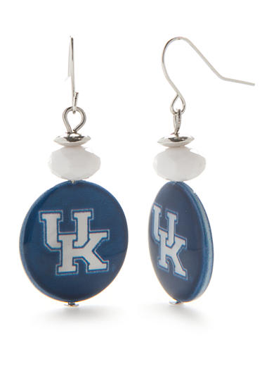 accessory PLAYS® Silver-Tone Kentucky Wildcats Drop Earrings