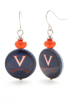 accessory PLAYS Silver-Tone Virginia Cavaliers Drop Earrings