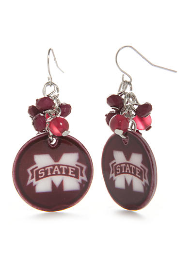 accessory PLAYS® Silver-Tone Mississippi State Bulldogs Cluster Drop Earrings