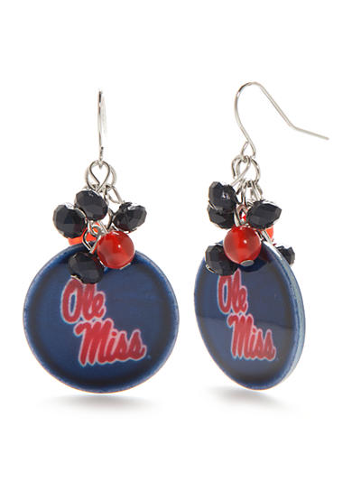 accessory PLAYS® Silver-Tone Ole Miss Rebels Cluster Drop Earrings