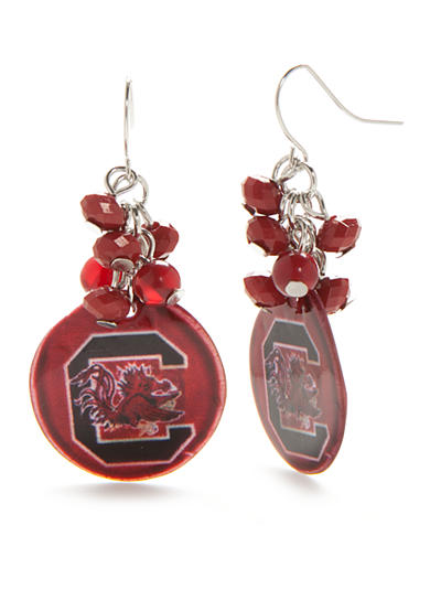 accessory PLAYS® Silver-Tone South Carolina Gamecocks Cluster Drop Earrings