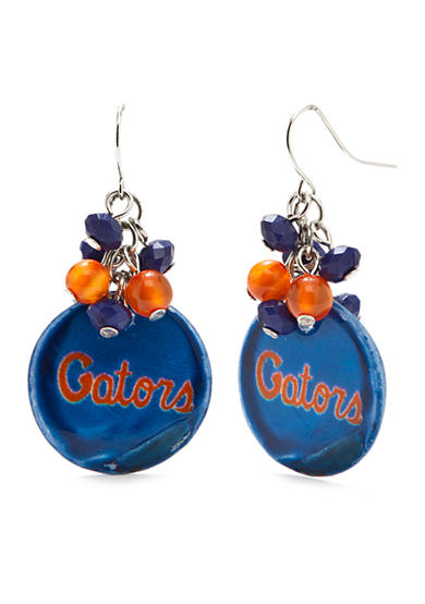 accessory PLAYS® Silver-Tone Florida Gators Beaded Shell Cluster Drop Earrings