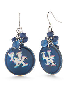 accessory PLAYS Silver-Tone Kentucky Wildcats Cluster Drop Earrings