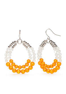 accessory PLAYS® Silver-Tone Tennessee Volunteers Double Beaded Hoop Earrings