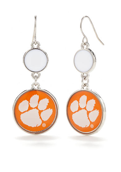 accessory PLAYS® Silver-Tone Clemson Tigers Earrings