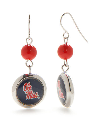 accessory PLAYS® Silver-Tone Ole Miss Rebels Double Drop Earrings