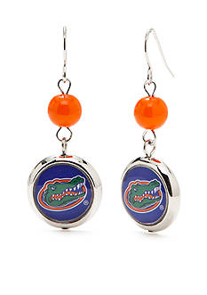 accessory PLAYS Silver-Tone Florida Gators Beaded Double Drop Earrings