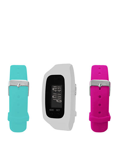B FIT WATCH® White LCD Tracker Watch