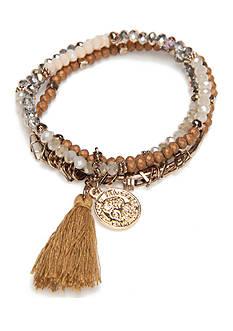true Gold-Tone Beaded Stretch Bracelet Set