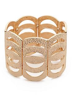 true Gold-Tone Textured Stretch Bracelet
