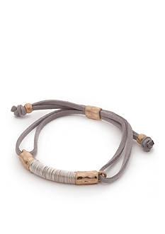 true Gold-Tone Suede Bracelet