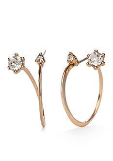 true Gold-Tone Twist Hoop Earrings