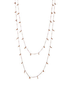 true Gold-Tone Double Row Bead Necklace