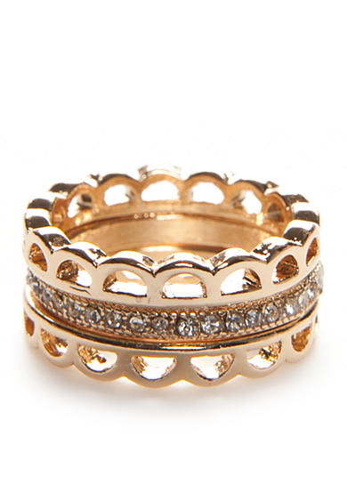 true Gold-Tone 3-Piece Stack Rings