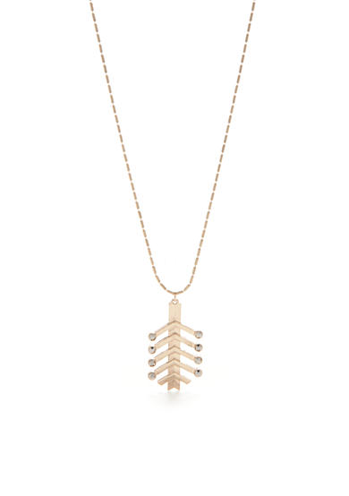 true Gold-Tone Jet Arrow Pendant Necklace