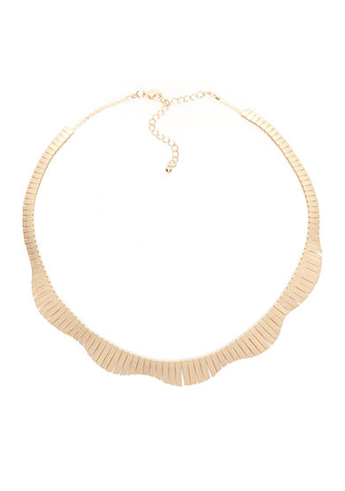 true Gold-Tone Bar Collar Necklace