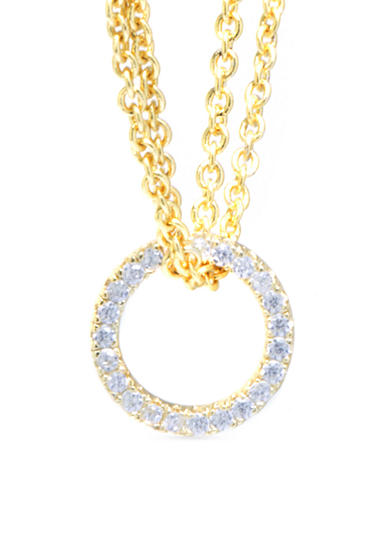 evie & emma Cubic Zirconia Open Circle Pendant Chain Necklace