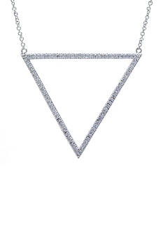 evie & emma Fine Silver Plated Open Triangle Necklace