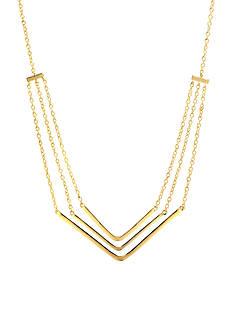 evie & emma Gold Over Fine Silver Plate Chevron Necklace