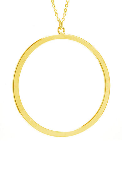 evie & emma Gold Over Fine Silver Plate High Polished Open Circle Necklace