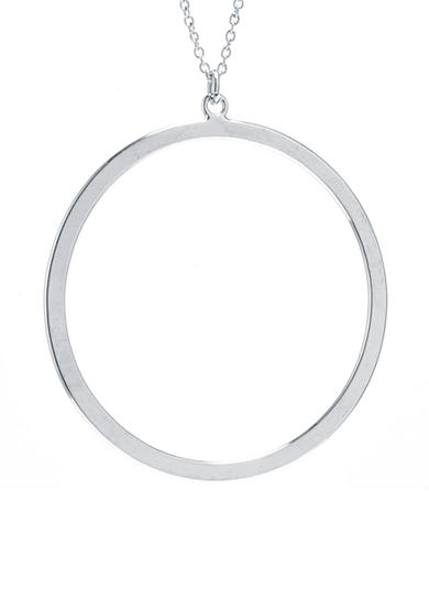 evie & emma Fine Silver Plated Open Circle Necklace