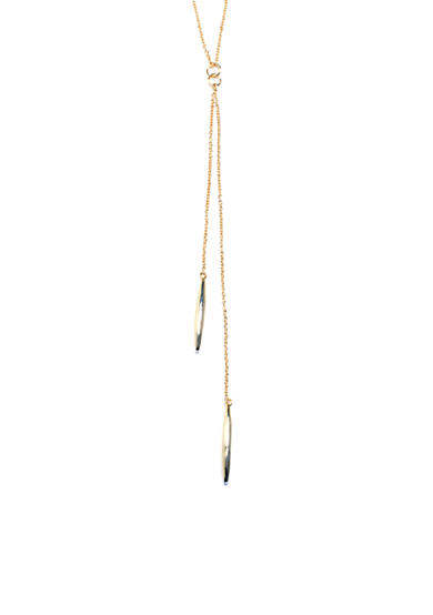 evie & emma Gold Over Fine Silver Plate Beaded Tassel Y-Necklace