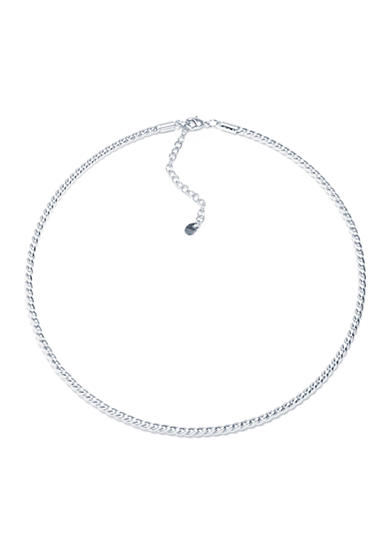 evie & emma Fine Silver Plated High Polished Twist Collar Necklace