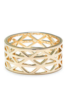 evie & emma Gold Over Fine Silver Plate Triangle Cutout Ring