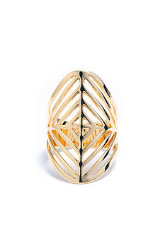 evie & emma Gold Over Fine Silver Plate Wide Geometric Ring