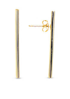 evie & emma Gold Over Sterling Silver Vertical Bar Drop Earrings