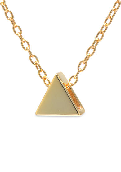 evie & emma Gold Over Sterling Silver Triangle Necklace