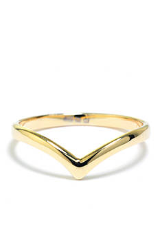 evie & emma Gold Over Sterling Silver Chevron Ring