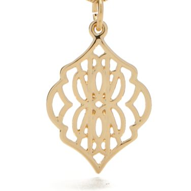 Fashion Pendant Necklace: Gold Vera Bradley Signature Pendant Necklace