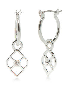 Vera Bradley Signature Charm Drop Earrings