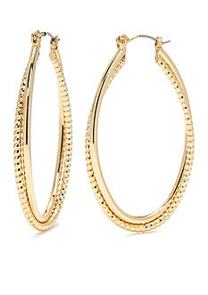 Vera Bradley Gold-Tone Modern Elegance Coil Hoop Earrings